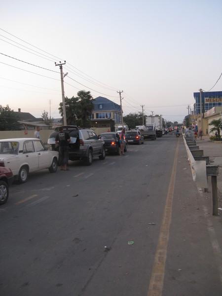 Раннее утро.На подступах к абхазской границе.
