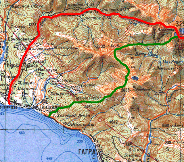 Абхазская граница до и после 1929 года