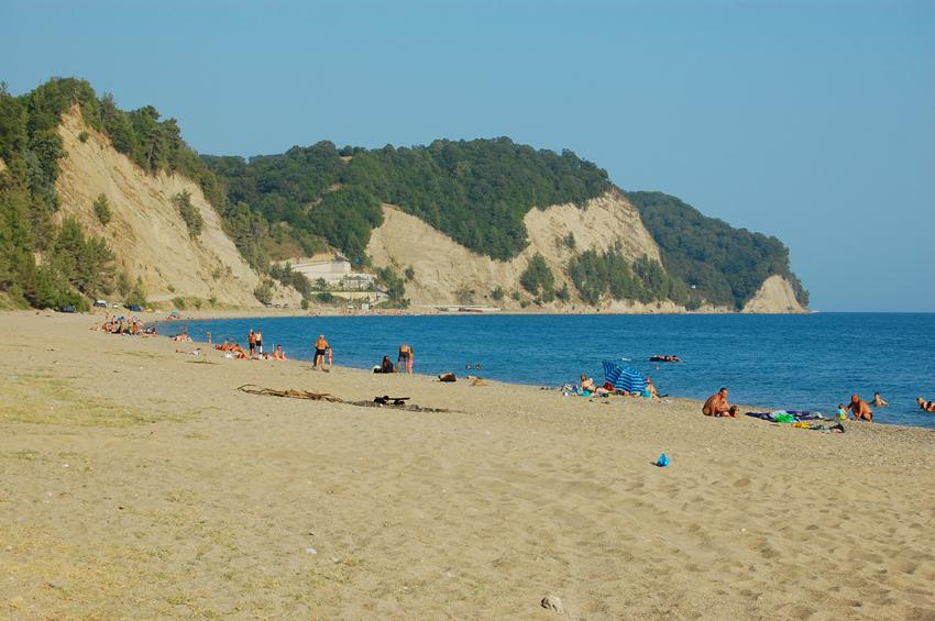 Песчаный пляж Лидзавы в районе Рыбзавода