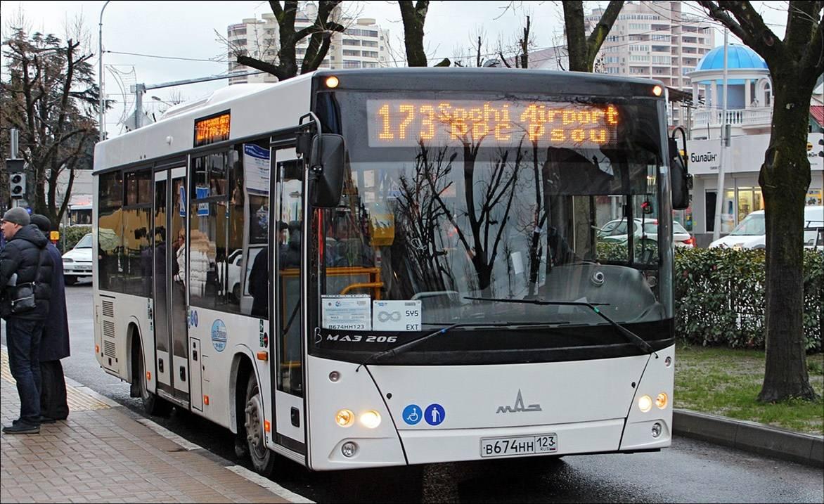 """173-й автобус города Адлера """"Аэропорт Сочи - Псоу"""""""