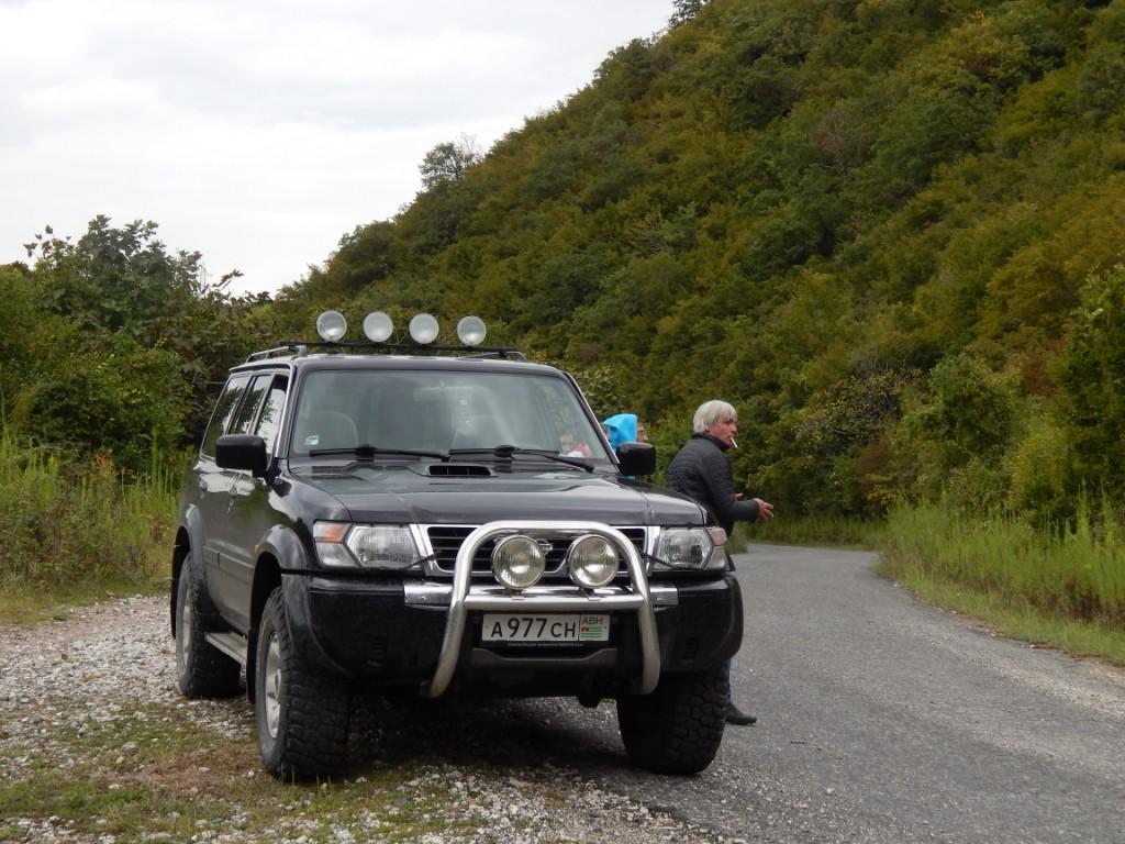 Наша лошадка по Восточной Абхазии и гид Андрей