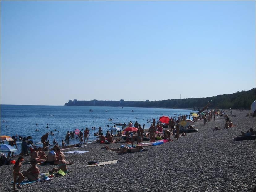 Пляжный отдых в поселке Лидзава