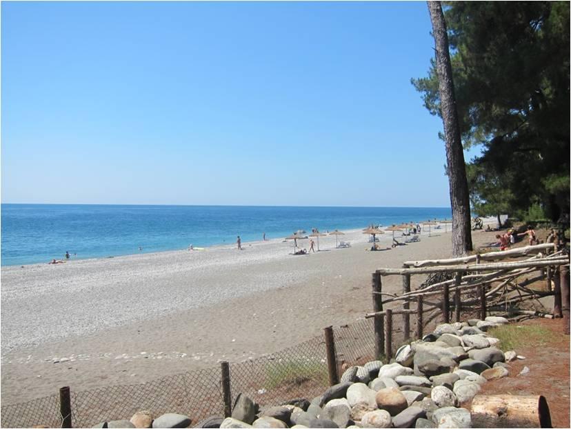 """Одно из любимых мест в Пицунде – пляж  отеля """"Ирэн"""""""
