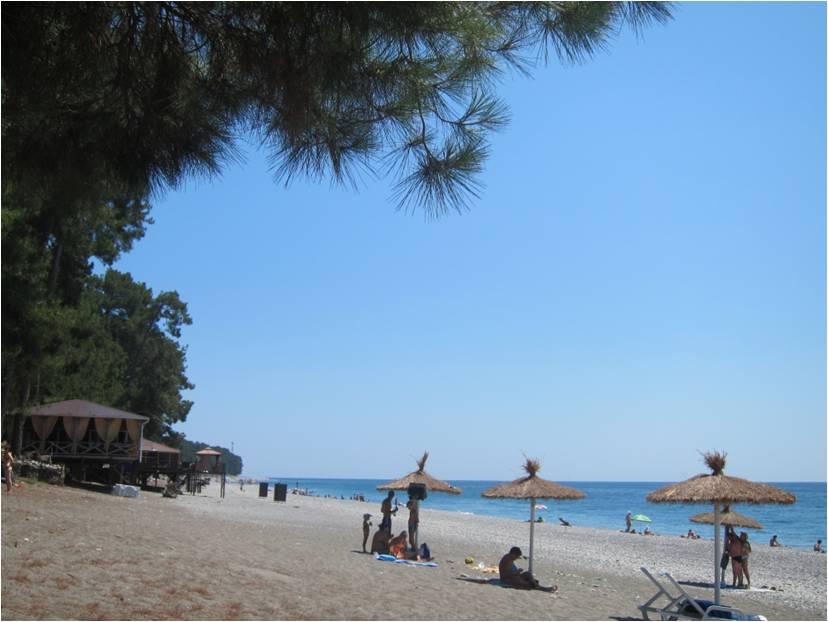 Этот пляж в Пицунде заслуживает 5 баллов!