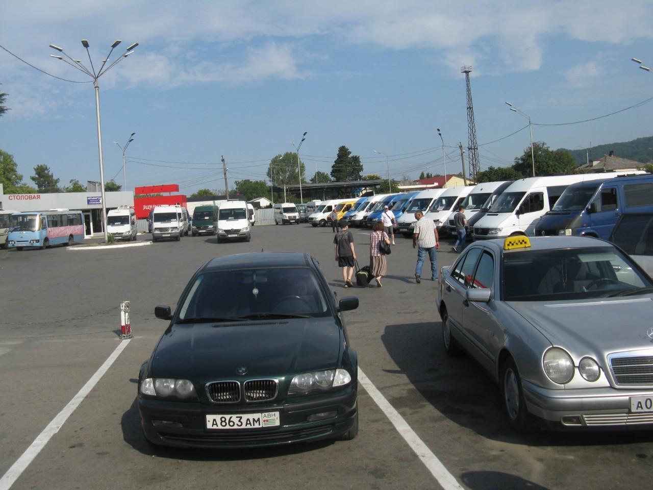 Привокзальная площадь автовокзала Псоу