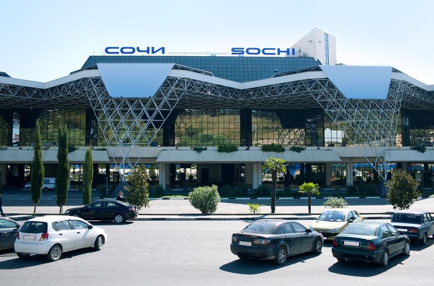 Привокзальная площадь сочинского аэропорта