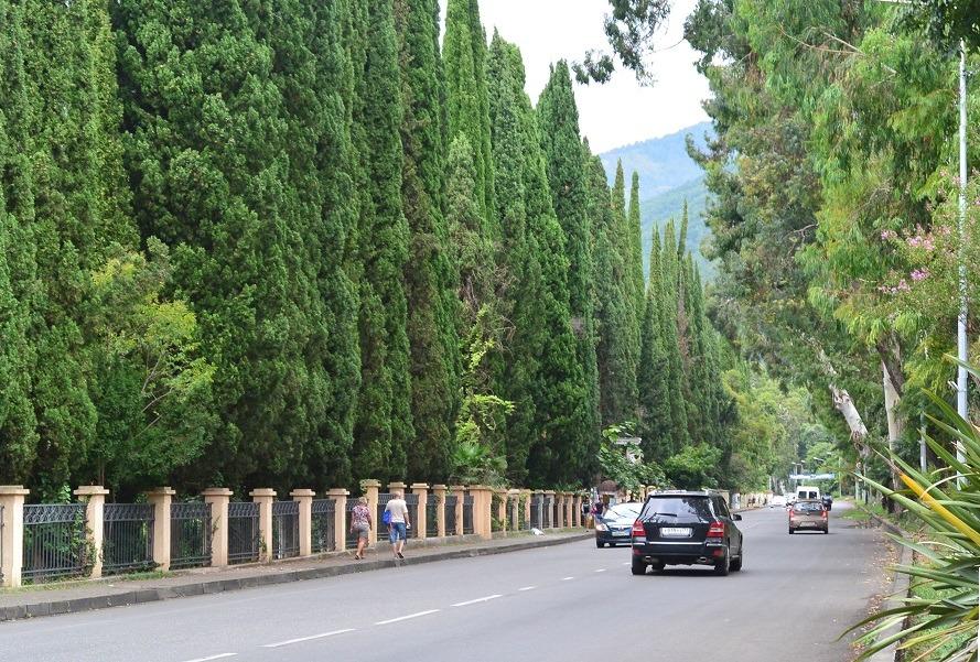 Сухумское шоссе - главная дорожная артерия Абхазии